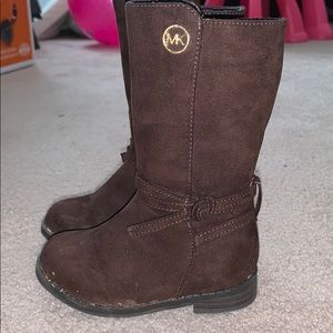Michael Kors Emma brown riding boots toddler 6